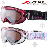 ゴーグル スノーボード レディース 女性用 眼鏡対応 ダブルレンズ AXE スキースノボ ゴーグル AX630-WMD メガネ対応 アックス 曇り止め機能付き