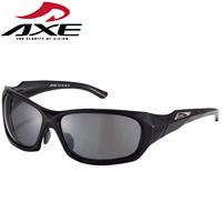 偏光サングラス ASP-460 UV400カット シャイニーブラック AXE アックス 偏光レンズ 紫外線対策 紫外線カット99.9% スポーツ 偏光グラス ゴルフ