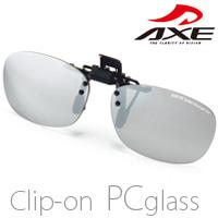 パソコン メガネ メガネの上からPCメガネ クリップ グラス AS-7BLC 【メガネにクリップで装着可能】 AXE PCメガネ 軽量