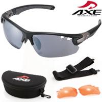 サングラス AX407-DPX UV400 AXE アックス スポーツサングラス UVカット パーツ付属 セット