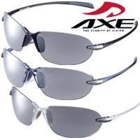 スポーツサングラス AS-205 UV400カット AXE(アックス) リムレス ランニング サイクリング フィッシング トレッキング ドライブ