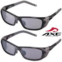 スポーツ サングラス AS-204 アックス サイドガード付き 自転車 UV カット 眼の保護