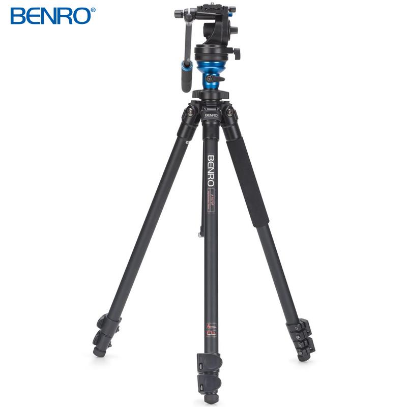 A1573FS2 レベリングセンターポール式 アルミプロレバーロック ビデオ三脚キット VTR用三脚 BENRO[ベンロ] 三脚 カメラアクセサリー ビデオ 撮影 運動会 イベント