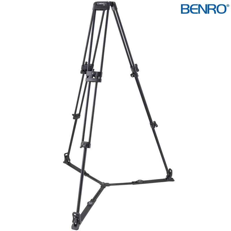 A674TM ダブルチューブ型プロ用ビデオ三脚 VTR用三脚 BENRO[ベンロ] 三脚 カメラアクセサリー ビデオ 撮影 運動会 イベント