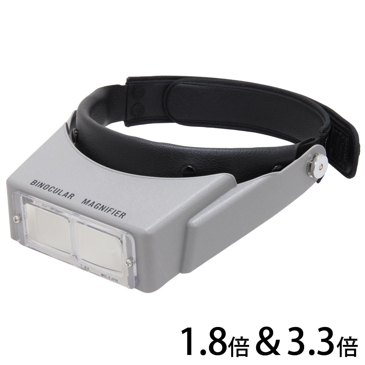 ヘッドルーペ BM-110 1.8倍&3.3倍 双眼ルーペ ヘッドバンド式 池田レンズ
