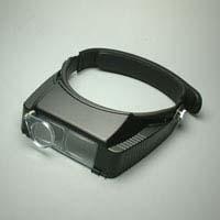 双眼ヘッドルーペ ヘッドバンド式 3.5倍補助レンズ付