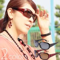偏光サングラス UVカット PY-10 レディース 女性用 大型レンズ ドライブ 釣り 偏光 グラス