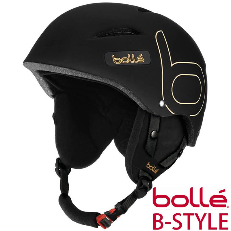 ヘルメット スノーボード スキー ソフト ブラック ゴールド Lサイズ メンズ レディース おすすめ おしゃれ かっこいい B-STYLE ビースタイル Bolle ボレー