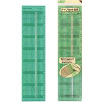テープカット定規 57924 クロバー 手芸用品 裁縫 ロータリーカッター 定規 さし 生地裁断 カット クローバー 趣味 ホビー 手作り