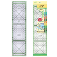 ストリップ定規[カラーライン30cm] 57928 クロバー 手芸用品 裁縫 パッチワーク 定規 さし カット 製図 型紙作り しるし付け クローバー 趣味 ホビー 手作り