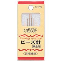 ビーズ針 57226 クロバー ステッチ ビーズ 刺繍 ししゅう 刺しゅう 手芸 裁縫 ソーイング用品 洋裁 ハンドクラフト