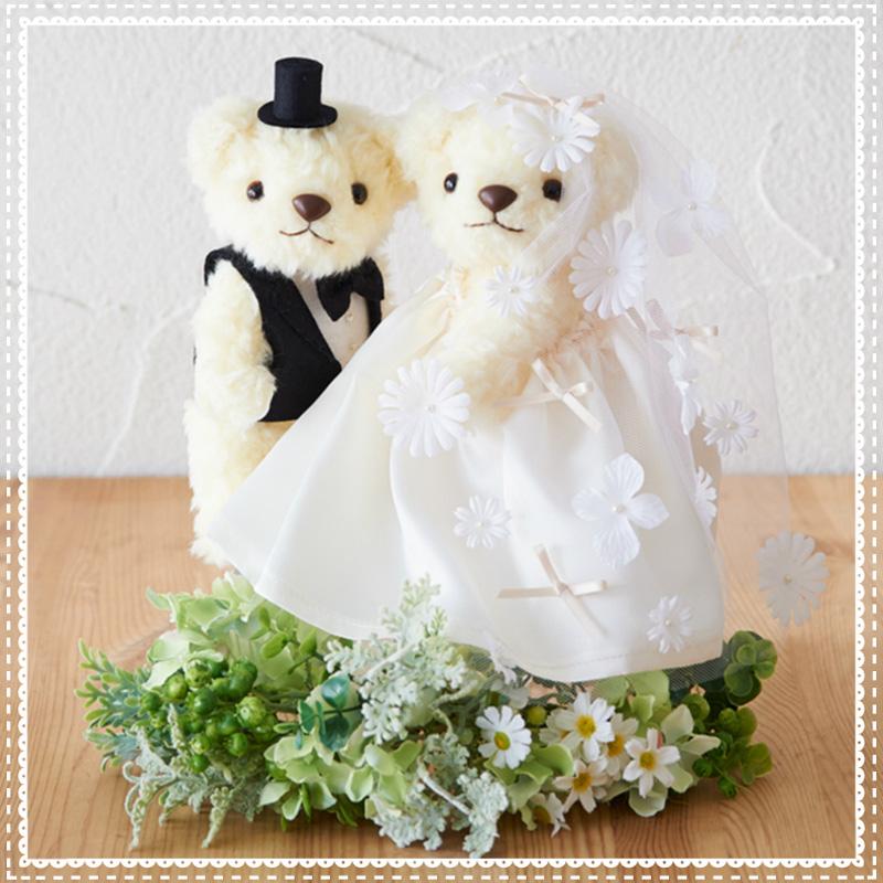 ウェディング ベア フラワーベール 68762 Clover 手芸 編物 裁縫 ソーイング 手作り ホビー クラフト 結婚式 演出 お祝い イベント