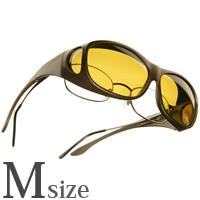 偏光 オーバーグラス ポラライズド C405Y COCOONS [コクーンズ] オーバーサングラス スリムライン[M] メガネの上からサングラス