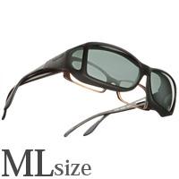 偏光 オーバーグラス ポラライズド C422G COCOONS [コクーンズ] オーバーサングラス ワイドライン[ML] メガネの上からサングラス