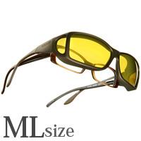 偏光 オーバーグラス ポラライズド C425Y COCOONS [コクーンズ] オーバーサングラス ワイドライン[ML] メガネの上からサングラス