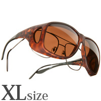 偏光 オーバーグラス ポラライズド C207C COCOONS [コクーンズ] オーバーサングラス エービーエーター[XL] メガネの上からサングラス