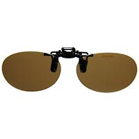偏光サングラス クリップサングラス CP-10BRP2 [フリップアップ] スポルディング 偏光グラス ゴルフ UV カット 跳ね上げ メガネの上からサングラス