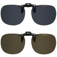 偏光サングラス クリップサングラス CP-7 [フリップアップ] スポルディング 偏光グラス ゴルフ UV カット 跳ね上げ メガネの上からサングラス