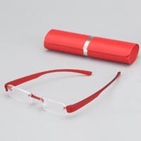 老眼鏡 ブライトグラス2 レッド carton 男性 女性 おしゃれ