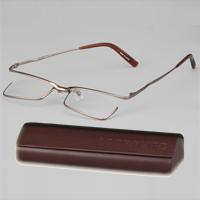 跳ね上げ式 老眼鏡 シニアグラス LOOKWARD ブラウン carton 老眼鏡 跳ね上げ