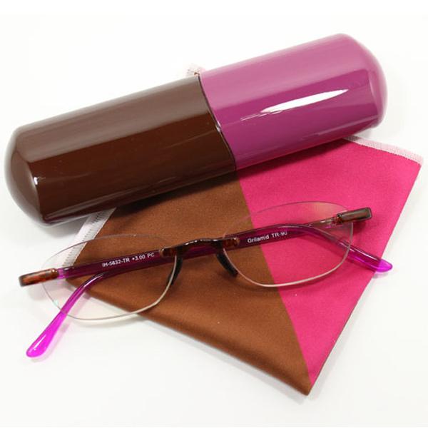 マカロン 老眼鏡 ブルーライト カシス G09213 カートン 女性 おしゃれ ブルーライトカット メガネ シニアグラス PCメガネ