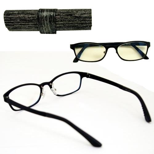 ウルテム PCシニアグラス ウルテム ブラック G079-04 カートン ブルーライトカット メガネ めがね シニアグラス PCメガネ