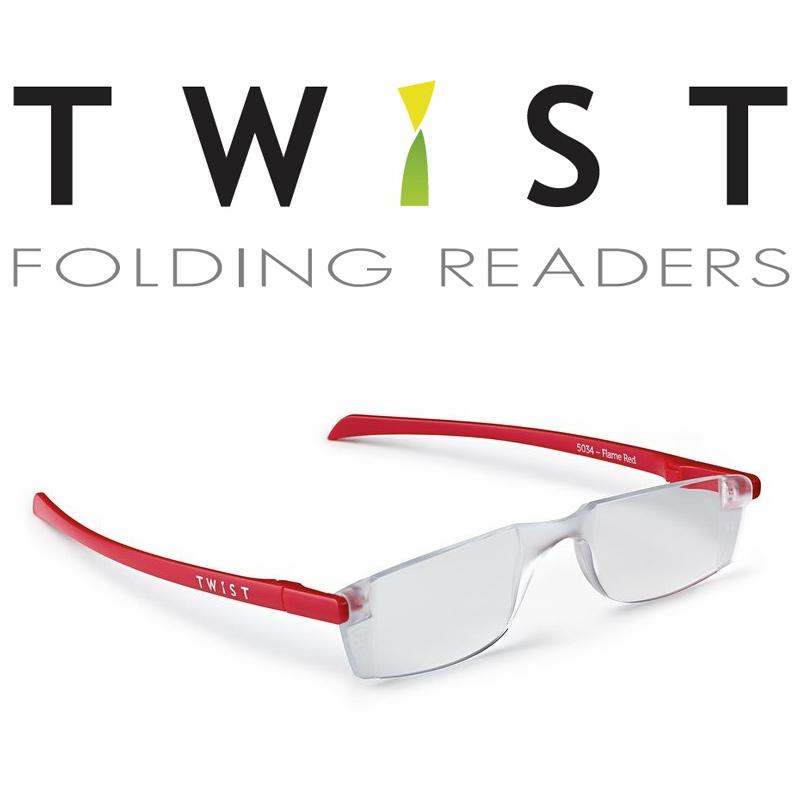 シニアグラス TWIST レッド 折りたたみ式 カートン 老眼鏡 おしゃれ メンズ レディース シニアグラス 携帯用 母の日 父の日 敬老
