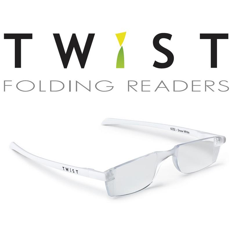 シニアグラス TWIST ホワイト 折りたたみ式 カートン 老眼鏡 おしゃれ メンズ レディース シニアグラス 携帯用 母の日 父の日 敬老
