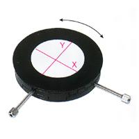 カートン XY移動ステージ 回転タイプ 135mm R型 M300-R 顕微鏡 観察 拡大 検査 研究