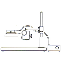 カートン 実体顕微鏡 [スタンド] LSL 顕微鏡 スタンド 観察 拡大 検査 研究