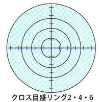 カートン 工作用顕微鏡 [ツールスコープ] オプション スケール [φ19] クロス目盛リング2・4・6 顕微鏡 ツールスコープ 目盛 観察 検査 拡大 カートン