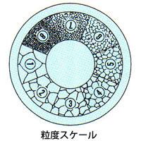 カートン 工作用顕微鏡 [ツールスコープ] オプション スケール [φ19] 粒度スケール 顕微鏡 スケール ツールスコープ 目盛 観察 検査 拡大 カートン