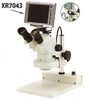 ズーム式 三眼実体顕微鏡 5.6型液晶モニター カートン  顕微鏡 観察 拡大 検査 研究
