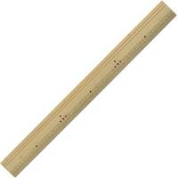 定規 竹尺 30cm 竹製 ものさし 裁縫道具 工作 小学生 学校教材 竹製 直定規 デビカ