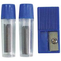 コンパス 先まるコンパス用替芯・芯削りセット 文房具 デビカ