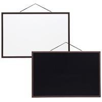 ホワイトボード ブラックボード ホワイト&ブラックボード[LL] 伝言板 お絵かき メモ メニュー
