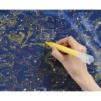 星座図 書けるわくわく星座図 学習 勉強 理科 星 観察 便利なマーカー1本入り