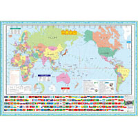 世界地図 ポスター 学習ポスター