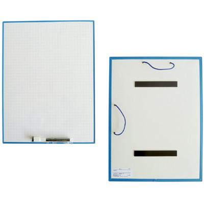 発表ボード[方眼入り 裏面マグネット] ホワイトボード 吊り下げひも付き 壁掛け 授業 家庭用 デビカ