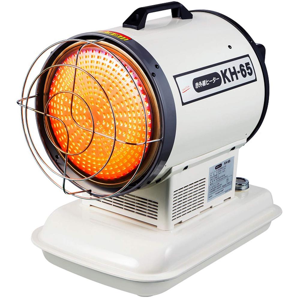 ナカトミ 赤外線ヒーター 100V KH-65 50・60Hz兼用【個人宅・代引き不可】 業務用 工業用 暖房機器 コンパクト