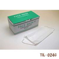 フェイスフィットマスク 薄めタイプ 50枚入 TIL-024G 粉じん 花粉対策 使い捨て マスク 男性用 女性用 花粉 ウイルス かぜ