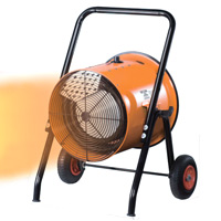 電気ファンヒーター 循環型温風送風機 「三相200V」ISH-10KT 013123 ナカトミ 暖房器具 電気 業務用 NAKATOMI