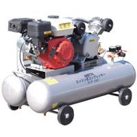 【メーカー在庫限り】 エンジンコンプレッサー ECP-163 A 000279 AIR TEC エンジン式 ベルト式 圧力調整器付 省エネ
