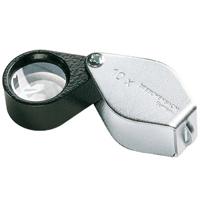 虫眼鏡 精密 繰り出しルーペ [folding metal magnifiers] 10倍 14mm 工業用精密検査用 117810