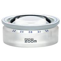 ズーム式置き型 ルーペ 14388 メナス・ズーム ペーパーウェイト 文鎮 虫眼鏡 [menas zoom] 2.2X・2.5X・2.8X・3.1X・3.4X 65mm 倍率を変えられる