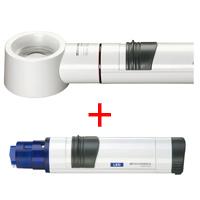 虫眼鏡 置き型 ライトルーペ [system vario plus] ヘッド+LEDライト付グリップのセット 12.5倍 35mm 155774