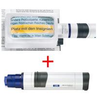 虫眼鏡 置き型 ライトルーペ [system vario plus] ヘッド+LEDライト付グリップのセット 3倍 50×100mm 158064
