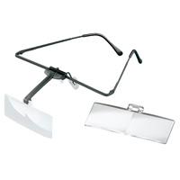 ラボ・フレーム [labo-med] フレーム+レンズ2枚セット 1.7・2.5倍 眼鏡のように耳に掛ける フレームタイプ 両眼レンズ 1644502 ヘッドルーペより気軽です エッシェンバッハ