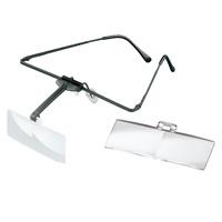 ラボ・フレーム [labo-med] フレーム+レンズ2枚セット 1.7・3倍 眼鏡のように耳に掛ける フレームタイプ 両眼レンズ 1644503  ヘッドルーペより気軽です エッシェンバッハ