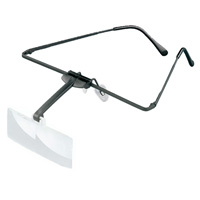ラボ・フレーム [labo-med] フレーム + レンズ 1枚セット 2倍 眼鏡のように耳に掛ける フレームタイプ 両眼レンズ 164451 ヘッドルーペより気軽です エッシェンバッハ